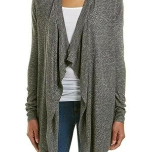 WORTHINGTON long maxi waterfall cardigan CHOOSE burgundy or gray ombre size L